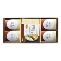 肉味噌で食べる三輪素麺