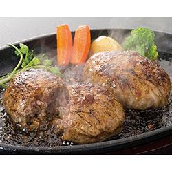 鹿児島黒毛和牛と黒豚の霜降りハンバーグステーキ