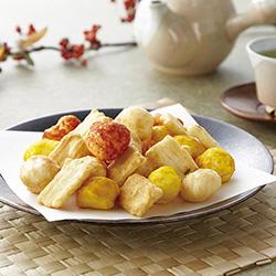 いろどり野菜のおかき(1セット6個)