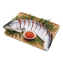 銀毛新巻鮭と北海道産いくら