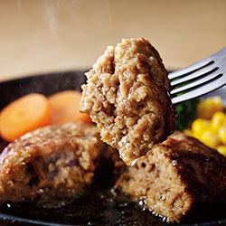 ローストビーフと鉄板焼ハンバーグセット